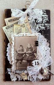 Dette veggbilde i vintagestil laget jeg som gjestedesigner for Ett Trykk. Det ble publisert i utgave 2/2015.         Jeg har brukt en g...