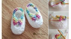 Preciosas Botines en Crochet - paso a paso