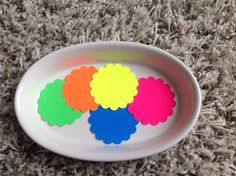 Neon tags, 25 Scallop circle die cuts in total, in 4 sizes, fluorescent die cuts, card stock die cuts, neon cardstock, neon tags by PinkyPromiseBargains on Etsy