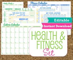 Etsy Purchase – Complete Binder Organization – Home Maintenance Fitness Planner, Fitness Tips, Health Fitness, Health Planner, Mom Planner, Planner Tips, Fit Girl Motivation, Fitness Motivation, Workout Calendar