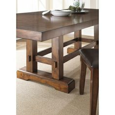 Denver 108-inch Trestle Table | Overstock.com Shopping - The Best Deals on Dining Tables