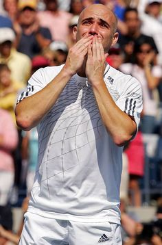 Andre Agassi's final match before retirement, at the 2006 US Open. Saying goodbye is hard to do!