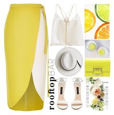 """""""Summer Date:Rooftop Bar"""" by grozdana-v ❤ liked on Polyvore featuring River Island, Calypso Private Label, Roger Vivier, summerdate and rooftopbar"""