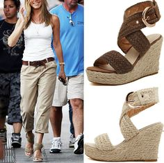 Casual Women Fashion high heels shoes woman Straw woven Platform wedges around ankle Rome Sandals alishoppbrasil