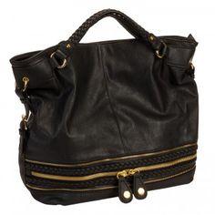 Urban Expressions Black Dakota Shoulder Handbag for $94.99 - in Bags