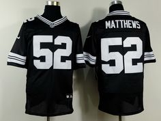 c19c9c996 Nike Green Bay Packers  52 Clay Matthews Black With White Elite Jersey Nfl  Jerseys For