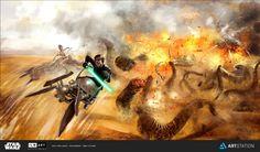 ILM Art Department Challenge contest from episode 6 Star Wars concept art by Ebru CETİNER