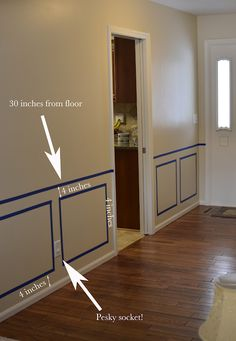 Bartons Blabbing: Fablous Foyer here we come! - Bartons Blabbing: Fablous Foyer here we come! Installing Wainscoting, Dining Room Wainscoting, Wainscoting Ideas, Wainscoting Panels, Picture Frame Wainscoting, Dining Room Paint, Dining Room Colors, Waynes Coating Dining Room, Diy Waynes Coating