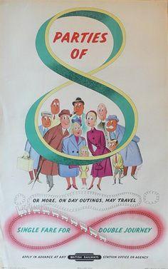 "British Railways - ""Single Fare For Double Journey"""