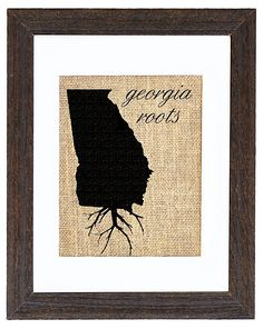 Would make a neat tat. Put florida under it too (connected) and still have the roots at the bottom. Perfect for my FL GA roots!