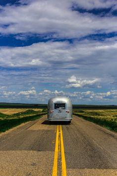 Streaming mightily through Saskatchewan.  #Airstream