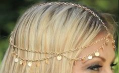 A personal favorite from my Etsy shop https://www.etsy.com/listing/270779512/bohemian-gold-hair-jewelry-egyptian-head