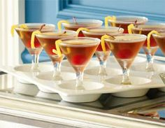 Mini Martini Glasses and 9-Section Tray