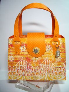 Orange Card Purse