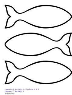 Fish outline image search results