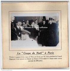 PARIS 1912 COUPE DE NOEL - GALLI PRESIDENT CONSEIL ET MEISTER NAGEUR - PHOTO