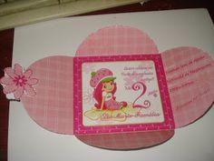 So Cute•♥• tarjetería personalizada: Fotos invitación Rosita Fresita•♥•