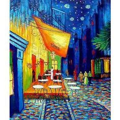 Cafe Terrace at Night Reproduction - Oil on Canvas