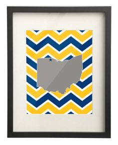 University of Toledo Ohio State Map 8x10 Chevron Print $15.00 Etsy. Use: PIN10 for 10% OFF!