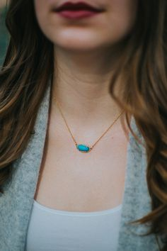 yellow gold and turquoise necklace