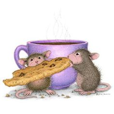 """""""National Coffee Day"""" from House-Mouse Designs® Illustrations, Illustration Art, Rats, Baby Animals, Cute Animals, House Mouse Stamps, Cartoon House, Moise, Image Digital"""