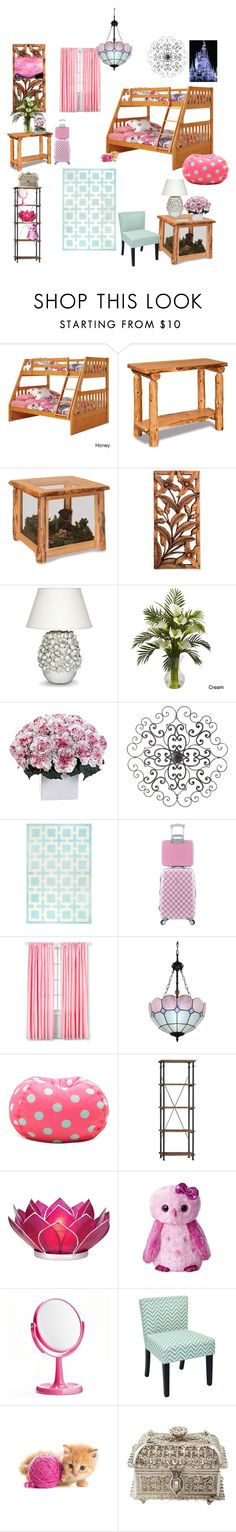 """""""Kids bedroom"""" by smurfyamc ❤ liked on Polyvore featuring interior, interiors, interior design, home, home decor, interior decorating, DutchCrafters, NOVICA, Palecek and Nearly Natural"""