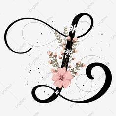 Flower Background Wallpaper, Background Banner, Flower Backgrounds, Pattern Background, Tattoo L, Flower Graphic Design, Collection Letter, Letter Ornaments, Alphabet Wallpaper