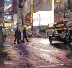 Painting a Rainy City on http://www.artistsnetwork.com  John Salminen