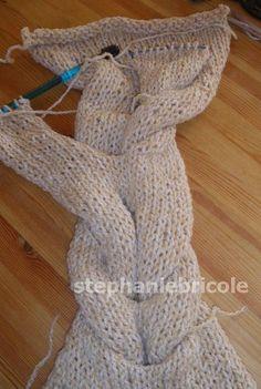 Snood Tricot, Echarpe Tricot, Tricot Et Crochet, Comment Tricoter Un Snood,  Tricot f1944be3e34