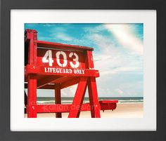 Lifeguard Chair Stand New Smyrna Beach Beach by JennRationDesign