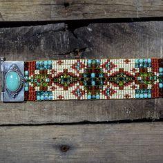 Teskey's Saddle Shop: Chili Rose beaded bracelet