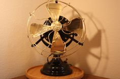 Antique G E Electric Pancake Motor Fan w Brass Blades and Cage 1906 | eBay
