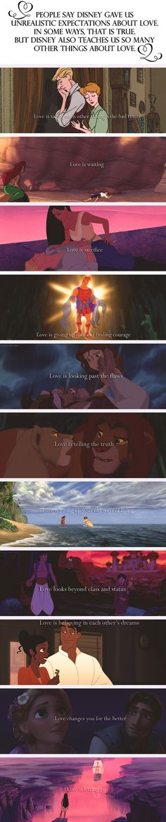 People say Disney gives us unrealistic expectations about love. In some ways, that is true. But Disney also teachers us so many other things about love. #love #disney