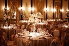 Champagne Table Scape - Romantic