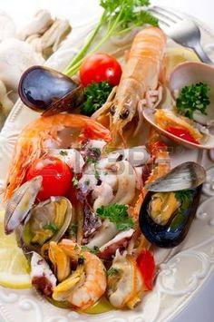 Salat auf Teller Meer photo