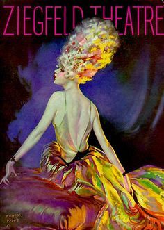 Hollywood Comedy Club  Ziegfield Theatre Program  Illustrator-Henry Clive, 1920s