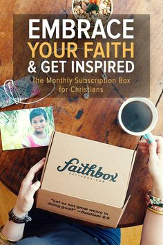 Share the gift of faith with a loved one today! Faithbox inspires daily Christian living by helping you grow in your faith, impact your community, and discover meaningful products from companies that do good. In addition, by joining the Faithbox community you'll also be making a real impact— every box purchased also provides 3 meals for hungry kids. Visit Faithbox.com to sign up today.