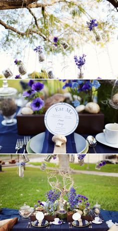 Like the darker colors of this alice & wonderland themed tea party, as opposed to the usual pastel colored route.
