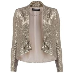 Silver Sequin Jacket from Dorthy Perkins | Chictopia Community Faves |... ❤ liked on Polyvore featuring outerwear, jackets, silver sequin jacket, chictopia, sequin jacket, brown jacket and silver jacket