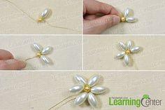 make pearl bead flower