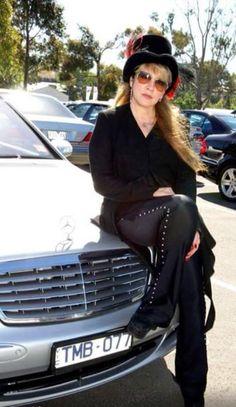 Stevie Nicks and Mercedes.