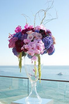 25 Stunning Wedding Centerpieces - Part 10 - Belle The Magazine Floral Centerpieces, Wedding Centerpieces, Wedding Table, Floral Arrangements, Wedding Bouquets, Wedding Blog, Centrepieces, Gown Wedding, Wedding Ideas