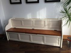 Rustic Radiator Cover Monks Bench in a Painted Finish Width Height Depth This item is also available in a Traditional Wax Finish Please message us for a price. Handmade Furniture, Diy Furniture, Hallway Furniture, Monks Bench, Radiator Cover, Kitchen Benches, Radiators, Rustic Style, Decoration