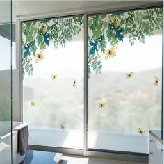Bathroom Windows, Glass Bathroom, Classic Interior, Luxury Interior Design, Otaku Room, Translucent Glass, Privacy Glass, Window Film, Window Stickers