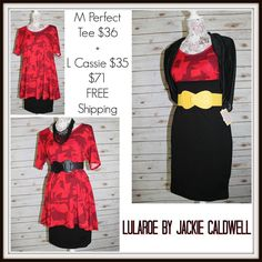 Wednesday outfit of the day! Medium Perfect Tee  Large Cassie. Go to my VIP group to claim! #lularoe #lularoebyjackiecaldwell #lularoeperfecttee #lularoecassie #classic