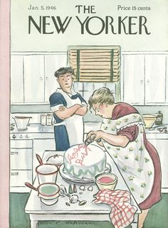 The New Yorker - Saturday, January 5, 1946 - Issue # 1090 - Vol. 21 - N° 47 - Cover by : Helen E. Hokinson