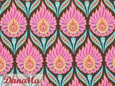 Stoff Blumen - Jersey - Happy After Rain braun - Hamburger Liebe - ein Designerstück von DanaMa-Stoffe bei DaWanda