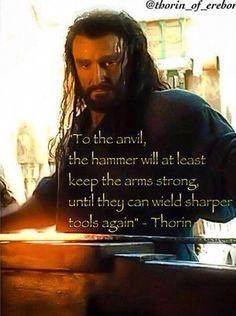 Thorin of Erebor a blacksmith
