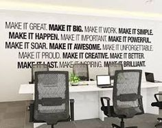 office wall pictures. Office Wall Art - Corporate Supplies Decor Typography Pictures O