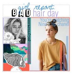 14. girl report: BAD hair day by uplifting-tips on Polyvore featuring polyvore, アート, bathroom and godesssetsandtips